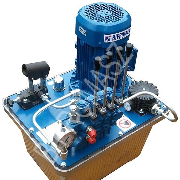 Agregat hydrauliczny elektryczny typu AHE-..A wykonywane w firmie Bipromasz