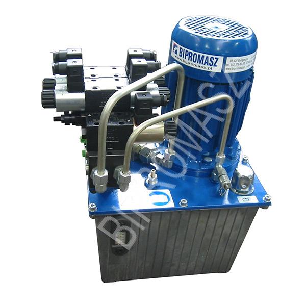 Agregat hydrauliczny elektryczny typu AHE-..A wykonywany w firmie Bipromasz