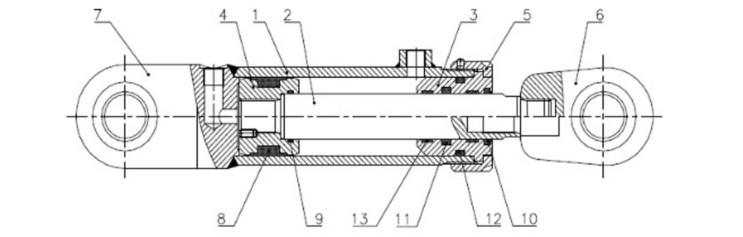 Siłownik hydrauliczny dwustronnego działania CB produkcji Bipromasz - Części zamienne