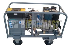 Agregat hydrauliczny wysokoprężny typu HAS-6D (Diesel) w wykonaniu specjalnym ze zbiornikiem 30 litrów.