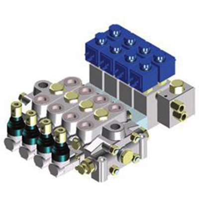 Rozdzielacz hydrauliczny HC-D4<br> max 80 l/min, max 350 bar