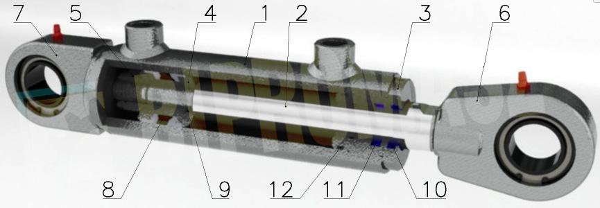 Siłownik hydrauliczny dwustronnego działania CBL - części zamienne