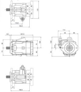 Pompa hydrauliczna wielotłoczkowa o zmiennej wydajności typu hpa4
