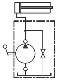 Pompy ręczne typu PP - schemat hydrauliczny