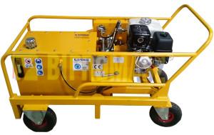 Agregat hydrauliczny spalinowy typu HAS-6 w wykonaniu specjalnym ze zbiornikiem 70 litrów.
