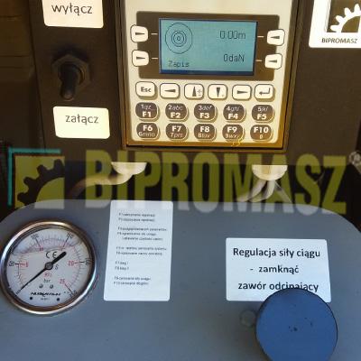 Rejestrator do wciągarki kablowej. Długość liny – siła uciągu