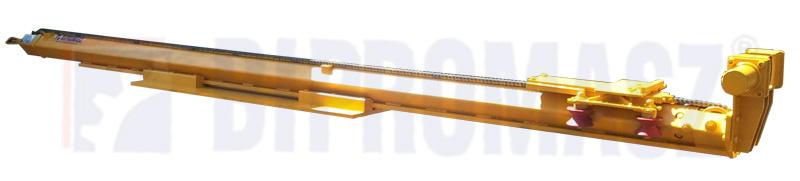 Lekki maszt wiertniczy (laweta, prowadnica o skoku 3m) do głowicy obrotowo-udarowej w komplecie z dolnym zaciskiem hydraulicznym