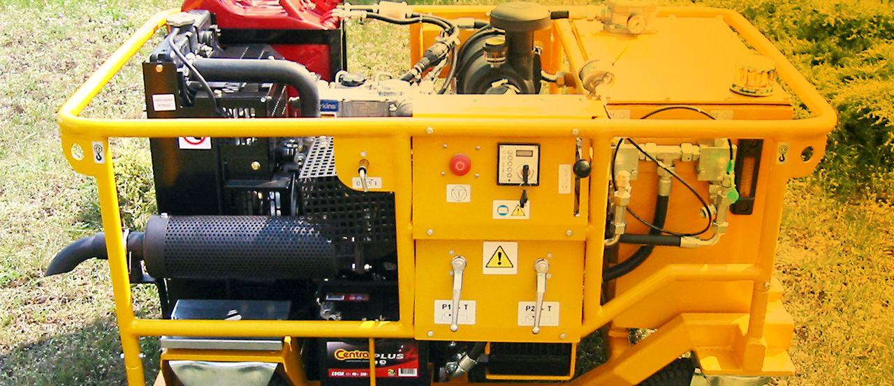 Agregaty hydrauliczne spalinowe i elektryczne