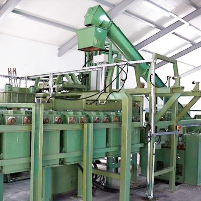 Linia technologiczna produkcji wsporników palet