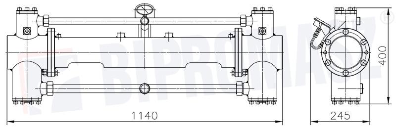 Rysunek techniczny - Pompa tłokowa iniekcyjna PTI-50