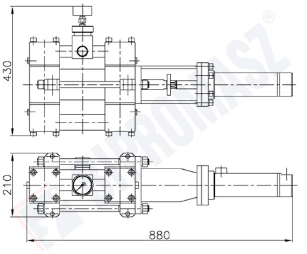 Rysunek techniczny - pompa tłokowa iniekcyjna PTI-80