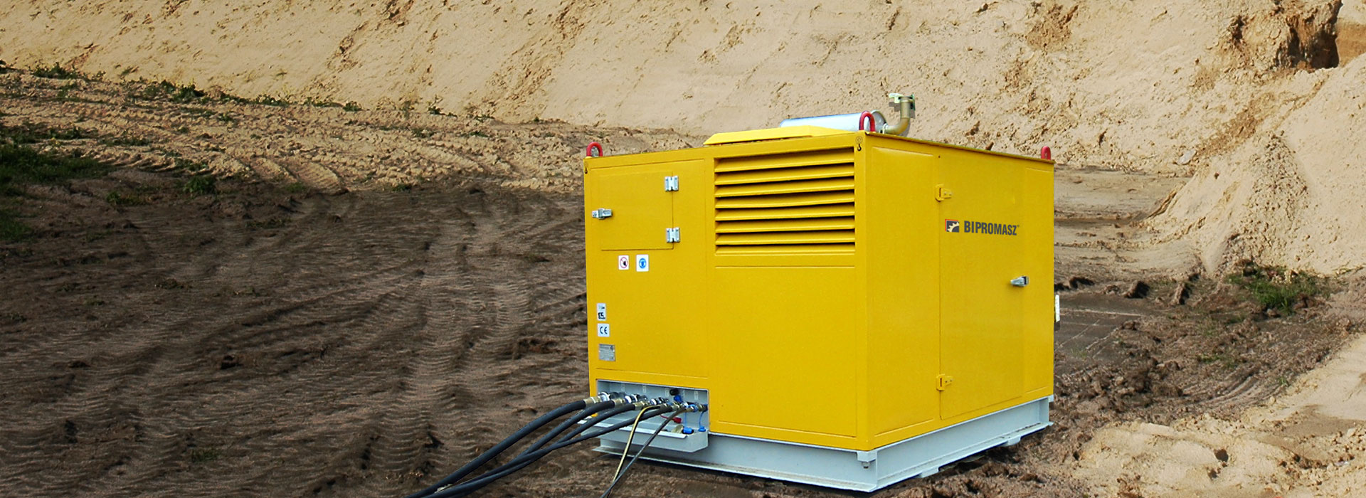 Produkujemy <br/>agregaty hydrauliczne spalinowe <br/>i elektryczne