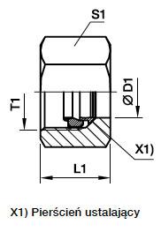 FM Nakrętka funkcjonalna EO2 do rur stalowych - rysunek
