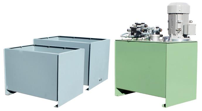 Zbiorniki stalowe z agregatem hydraulicznym produkcji firmy Bipromasz