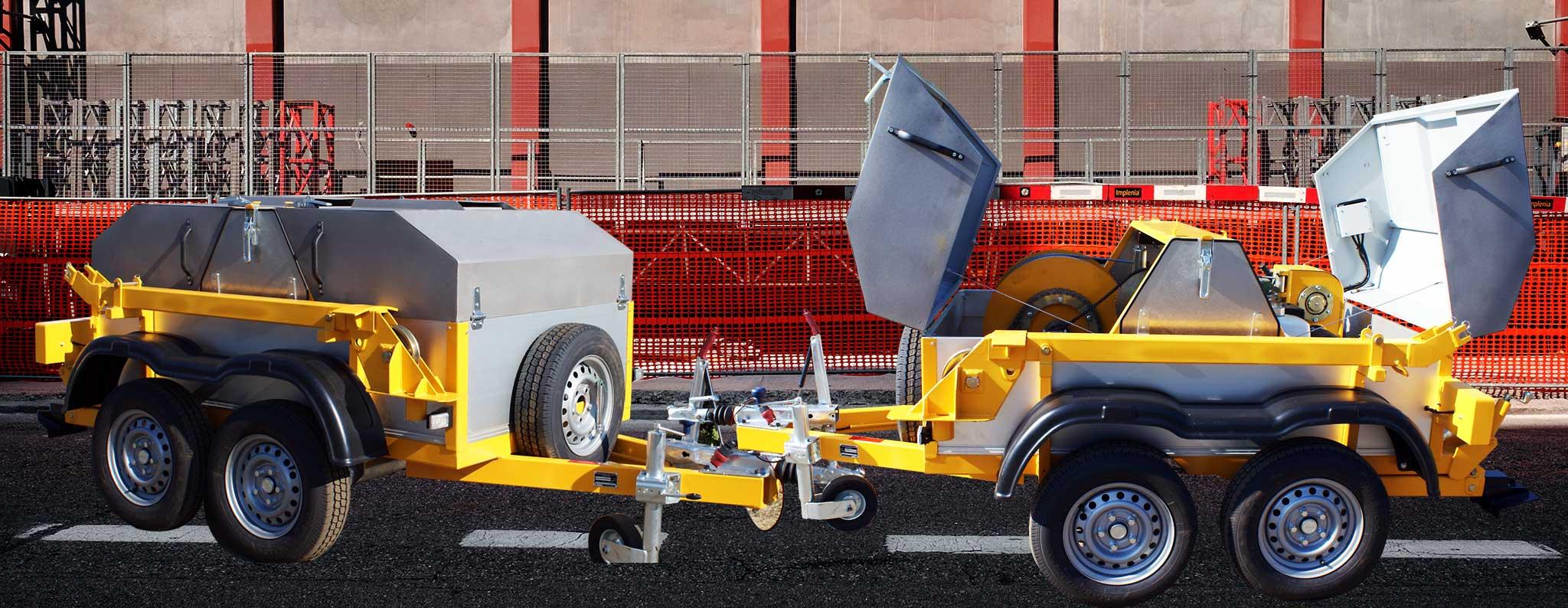 Wciągarka spalinowa do kabli serii WS - Bipromasz