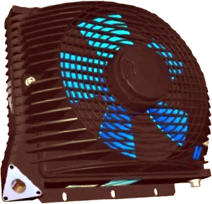 Powietrzna chłodnica oleju hydraulicznego ASA-0115 12VDC 24VDC