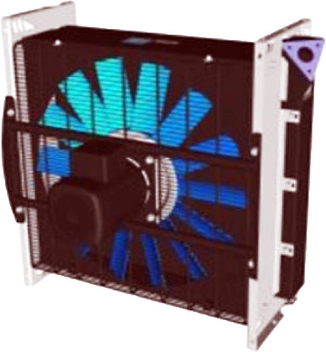 Powietrzna chłodnica oleju hydraulicznego ASA-0367 – silnik elektryczny 11 cm3 – 2000 obr/min