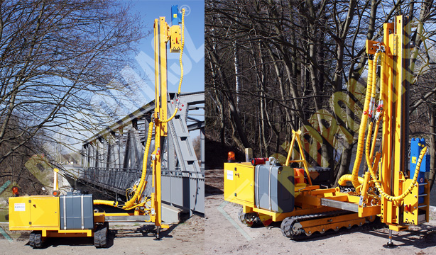 Kafar KB-2GV do fotowoltaiki jako nowa wersja kafara produkowanego przez Bipromasz