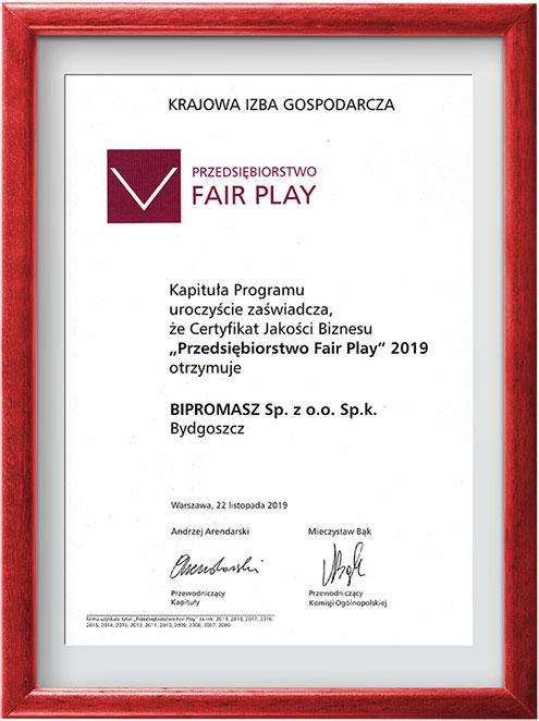 FairPlay 2019 dla firmy Bipromasz