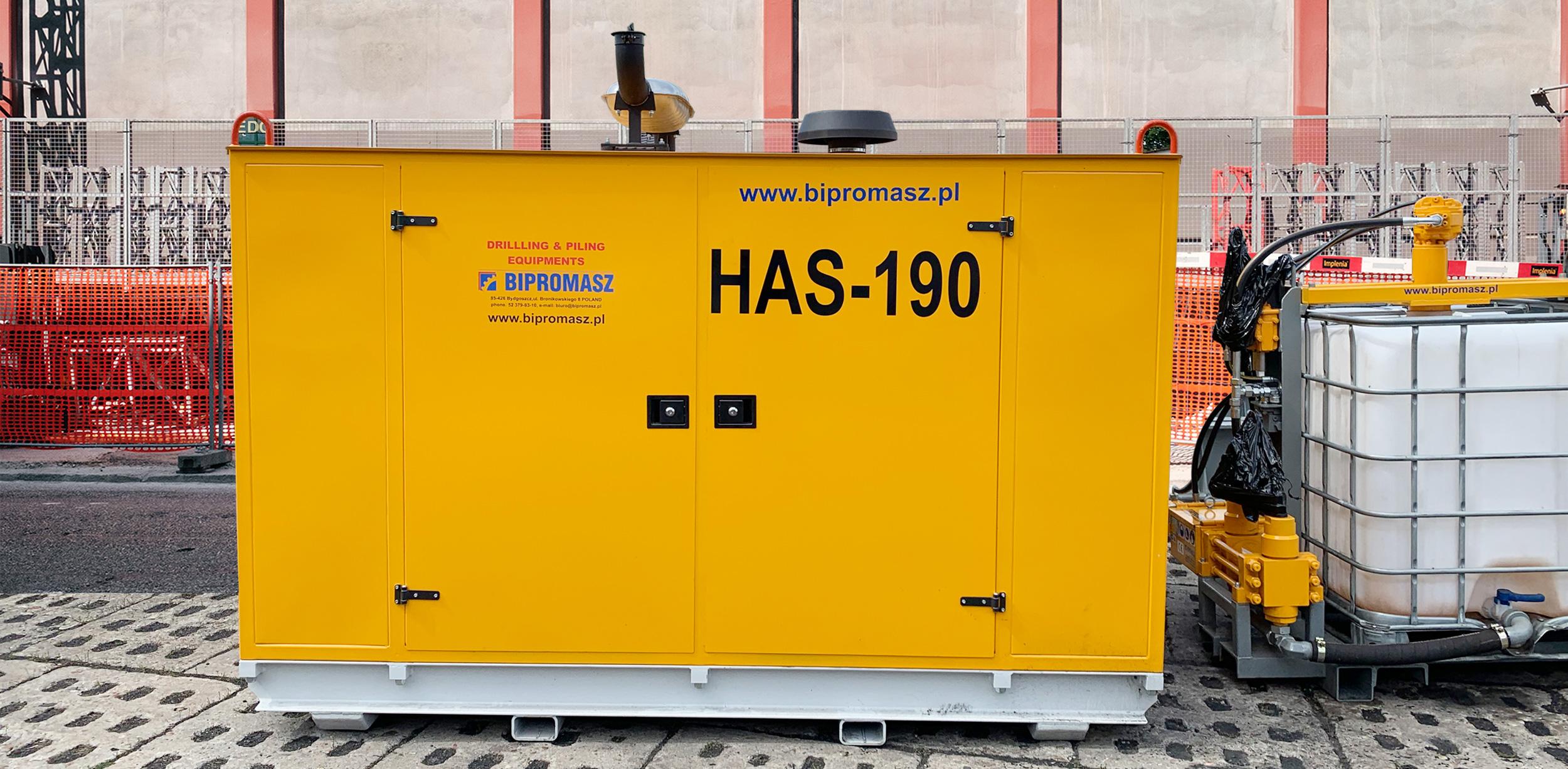 Agregat Hydrauliczny Spalinowy HAS-190 produkcji Bipromasz