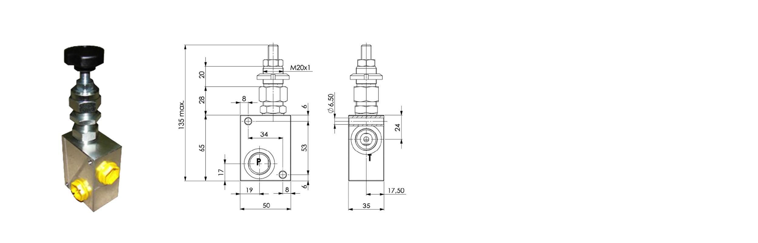 Zawór przelewowy FPM-D-40F-CB