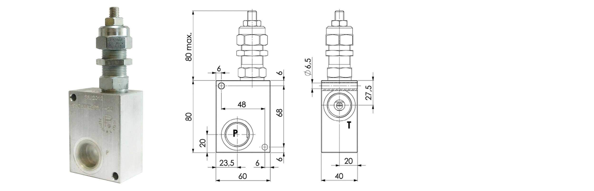 zawór ciśnieniowy fpm-D-80f-CB firmy Bipromasz