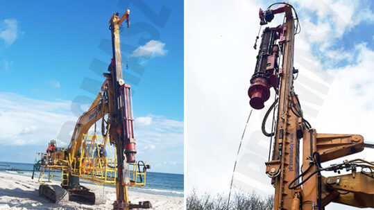 Oferujemy opcję młota hydraulicznego do osprzętów wiertniczych typu OKM-800