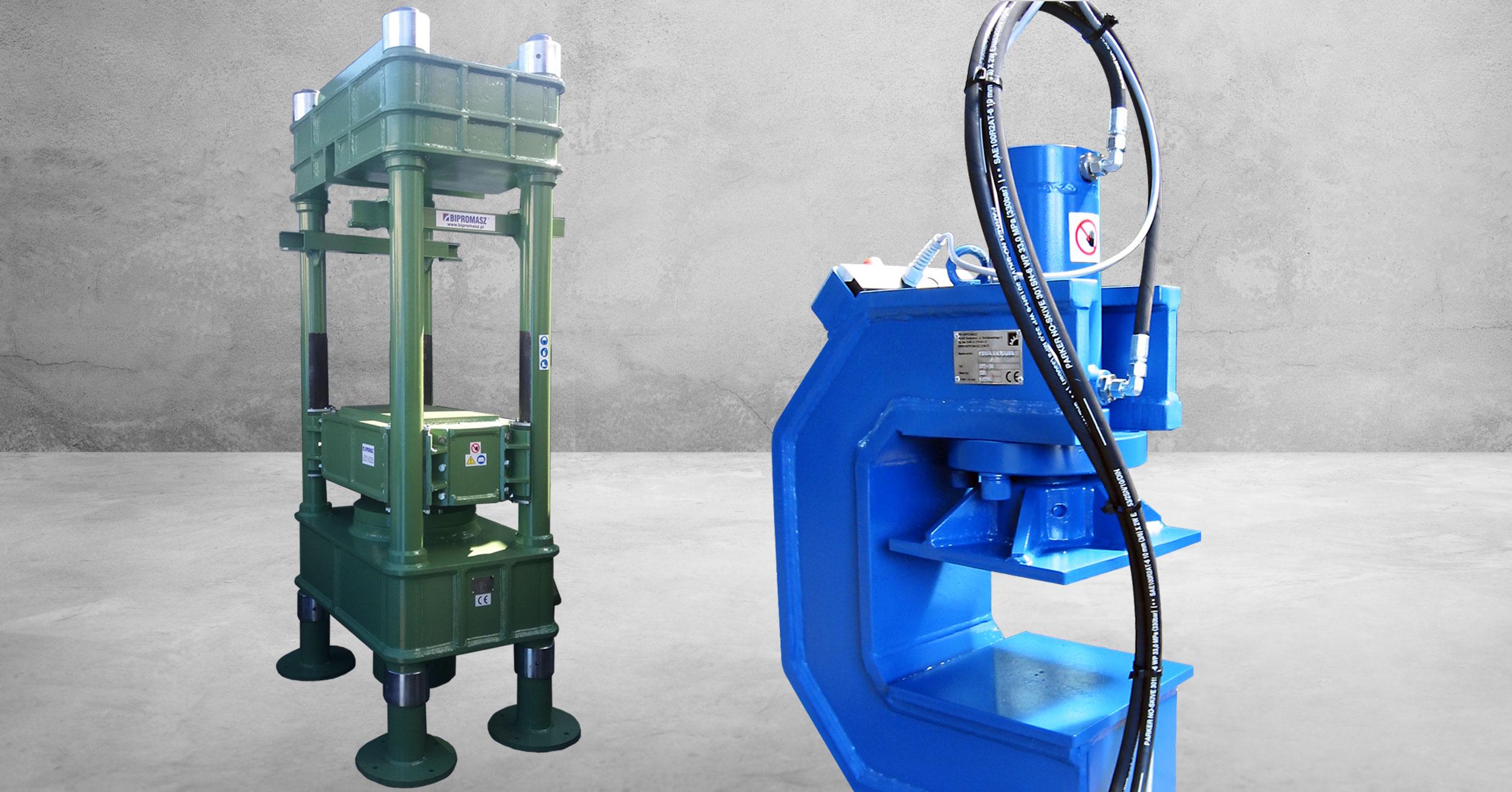 Prasa hydrauliczna 1000 – 2000 KN produkcji firmy Bipromasz