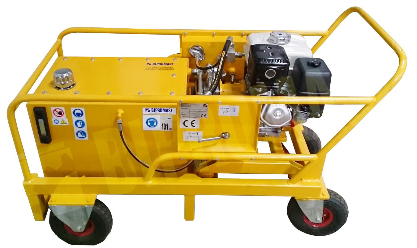 Agregat hydrauliczny spalinowy typu HAS-6 w wykonaniu specjalnym ze zbiornikiem 70 litrów