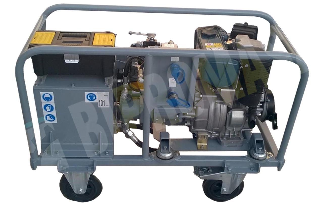 Agregat hydrauliczny wysokoprężny typu HAS-6D (Diesel) w wykonaniu specjalnym ze zbiornikiem 30 litrów