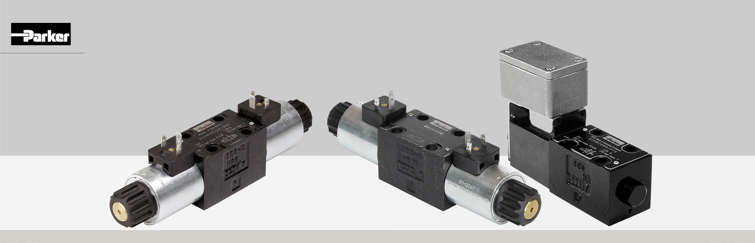 Rozdzielacze hydrauliczne elektrycznie sterowane typ D1VW (4D01)