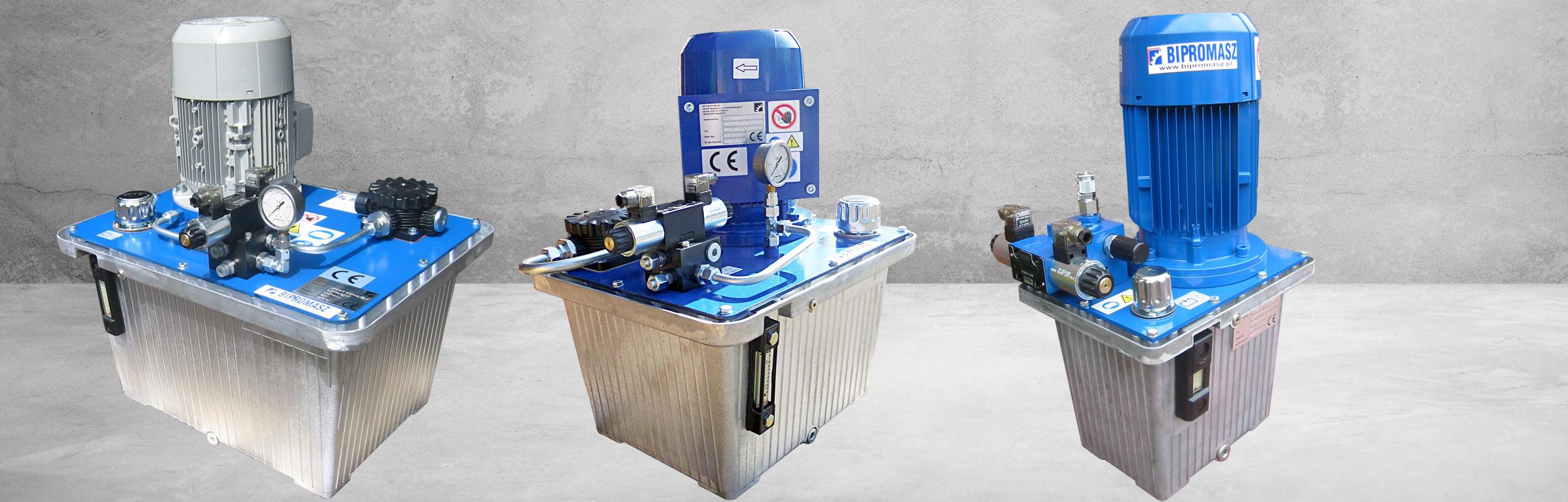 Agregaty Hydrauliczne Elektryczne AHE-..A produkcji firmy Bipromasz