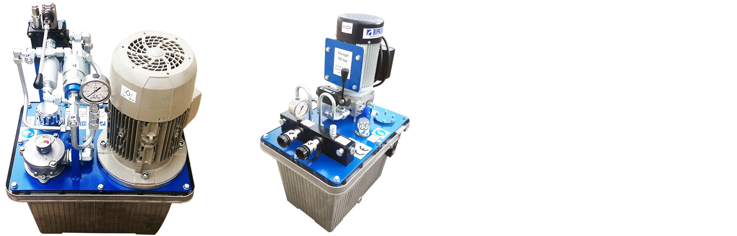Agregaty hydrauliczne wysokociśnieniowe 700 bar typu AHM700 z multiplikatorem ciśnienia
