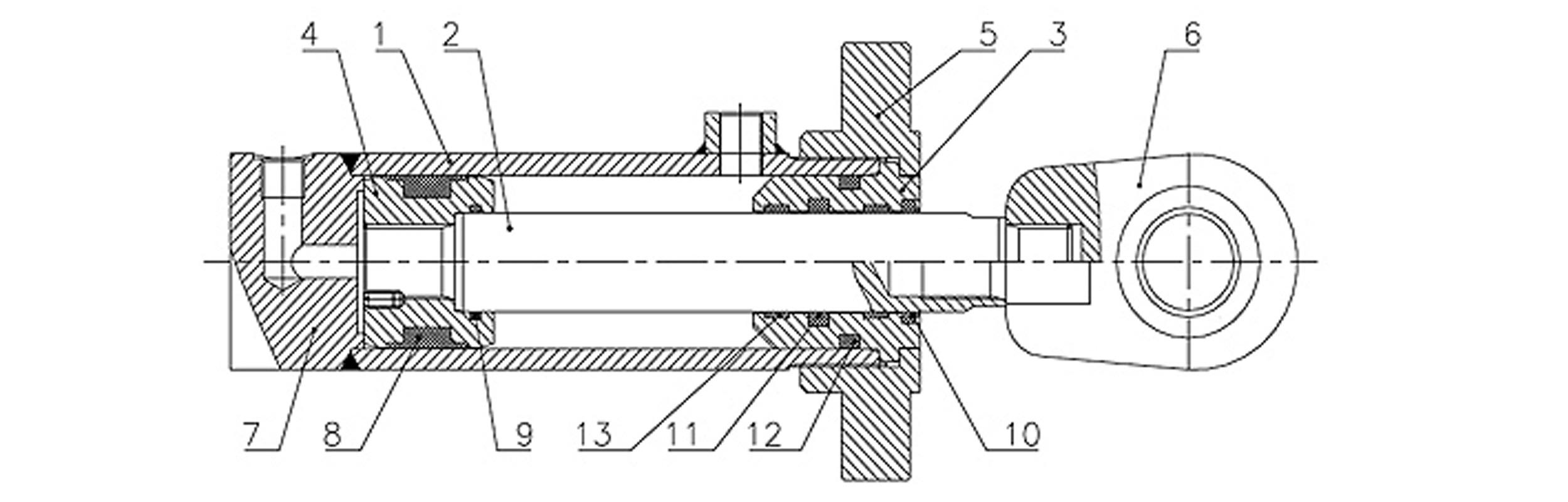Siłownik hydrauliczny dwustronnego działania CK - części zamienne