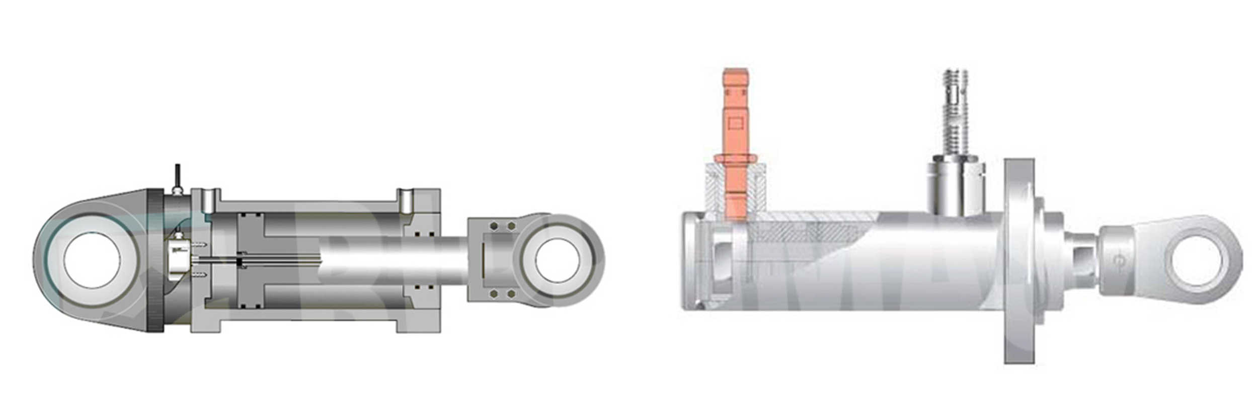Siłowniki hydrauliczne z pomiarem położenia tłoka produkcji firmy Bipromasz